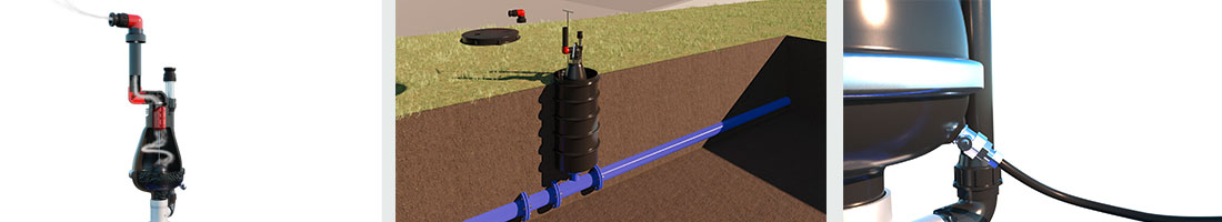 How does an AVK air valve for wastewater function?